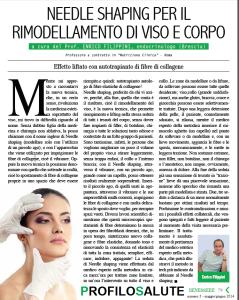 Needle shaping per il rimodellamento di viso e corpo - Articolo su Profilo Salute